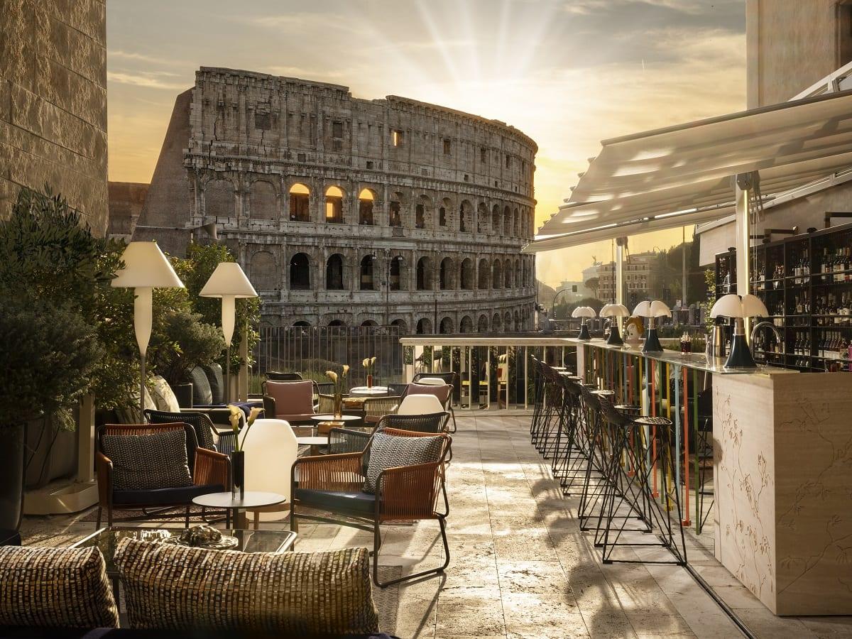 Il Colosseo visto dalla terrazza di The Court