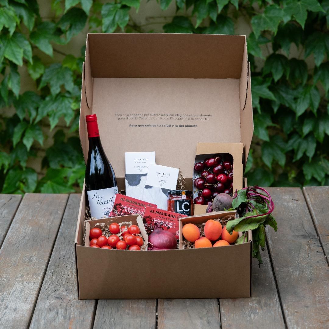 La box con i prodotti di Gastronomia Sostenible