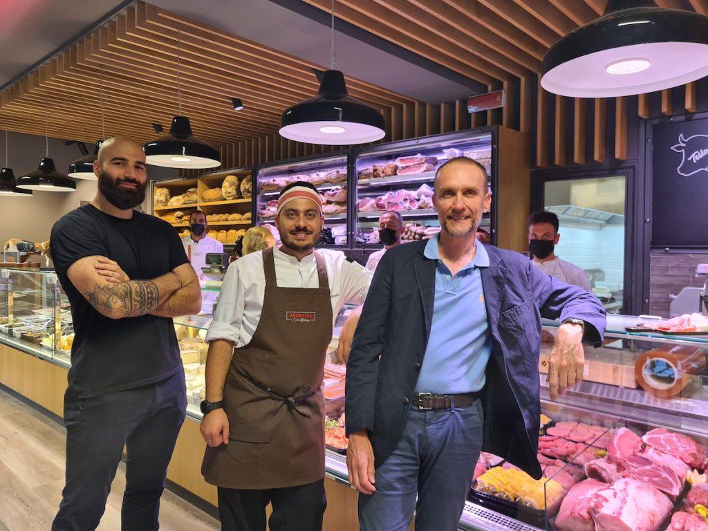 sx Francesco Rosati-GM_Matteo Militello-chef_Andrea Ceccarelli-Patron