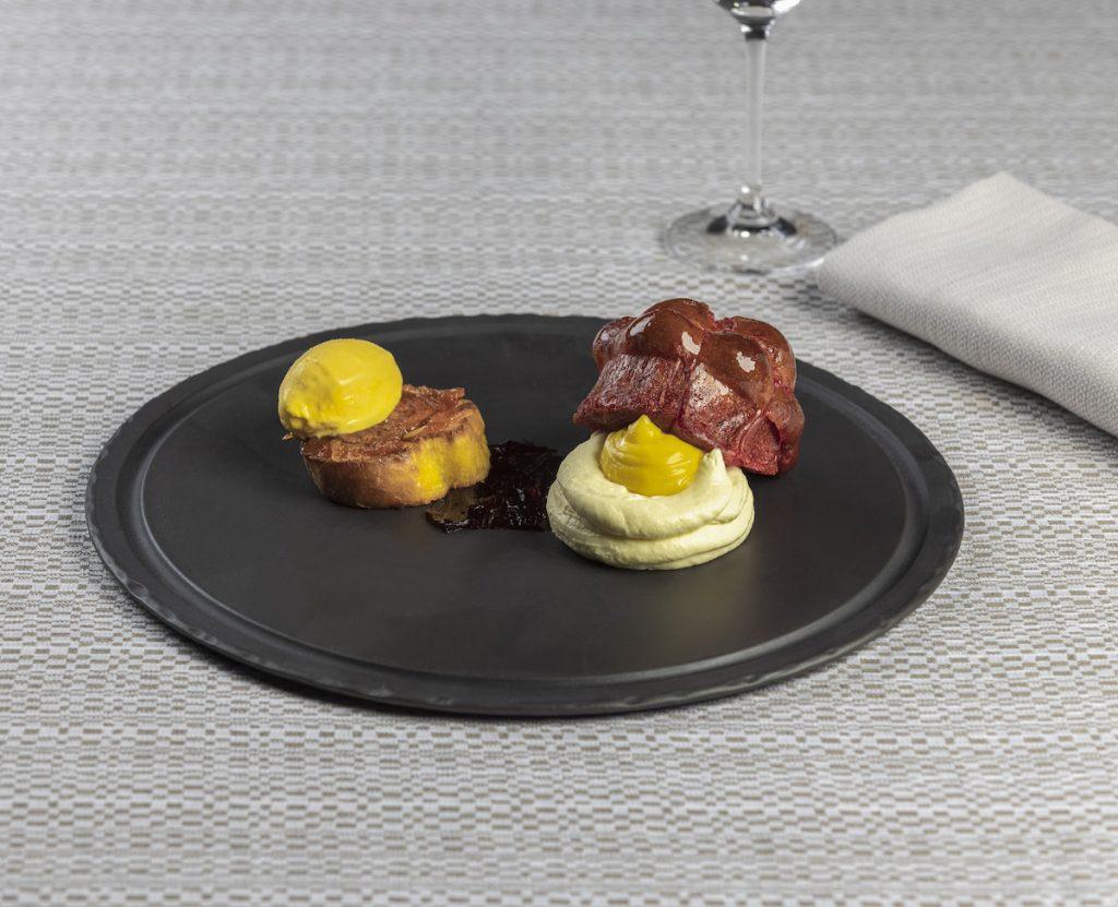 Brioche, crema, alchermes e pompelmo Matteo Lorenzini Osteria di Passignano