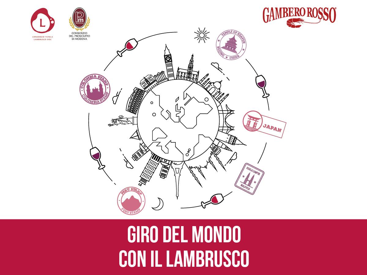 Giro del Mondo con il Lambrusco. 6 cene in sei ristoranti etnici