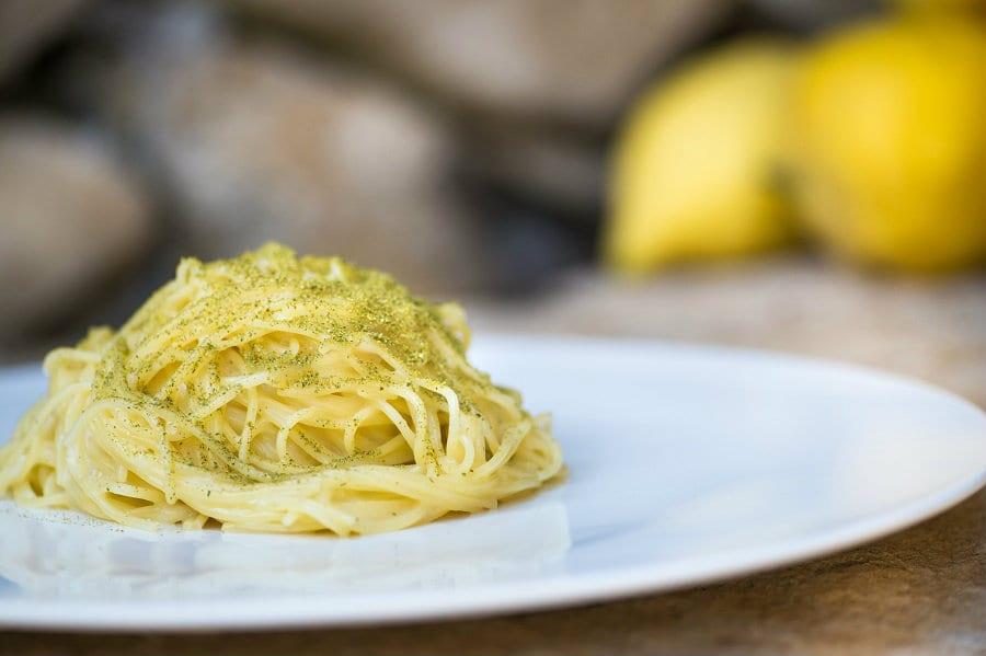 spaghettino al limone peppe guida. foto vignali