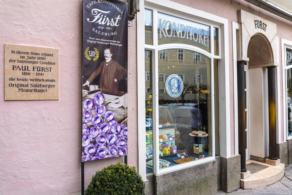Salisburgo cosa vedere: Café Fürst – il produttore degli originali Mozartkugel