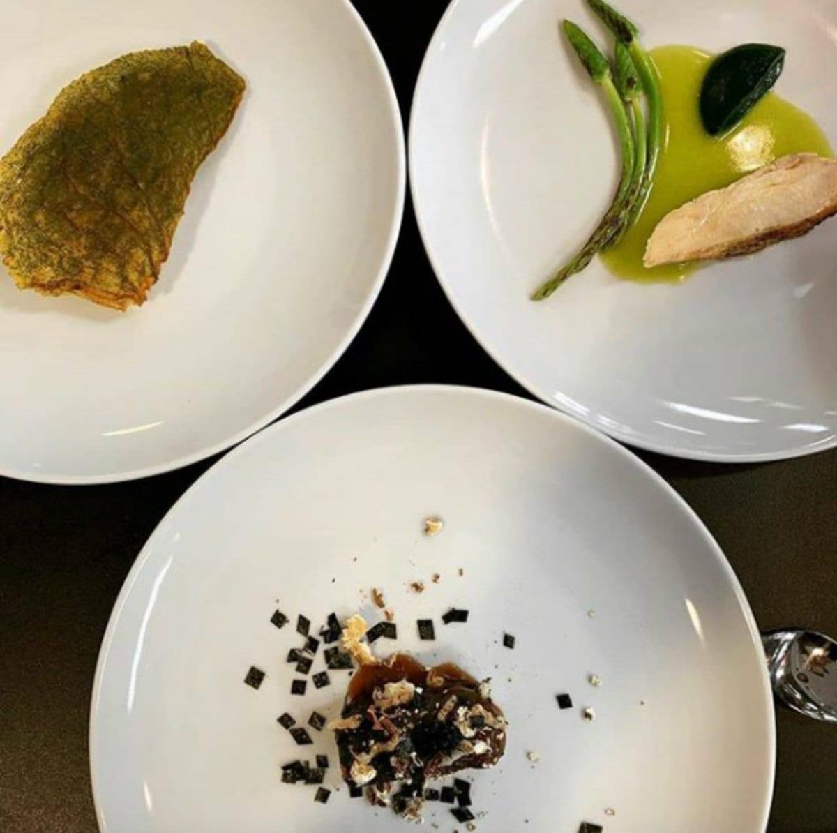 Altri piatti presentati durante la cena di gala al Basque Culinary Center