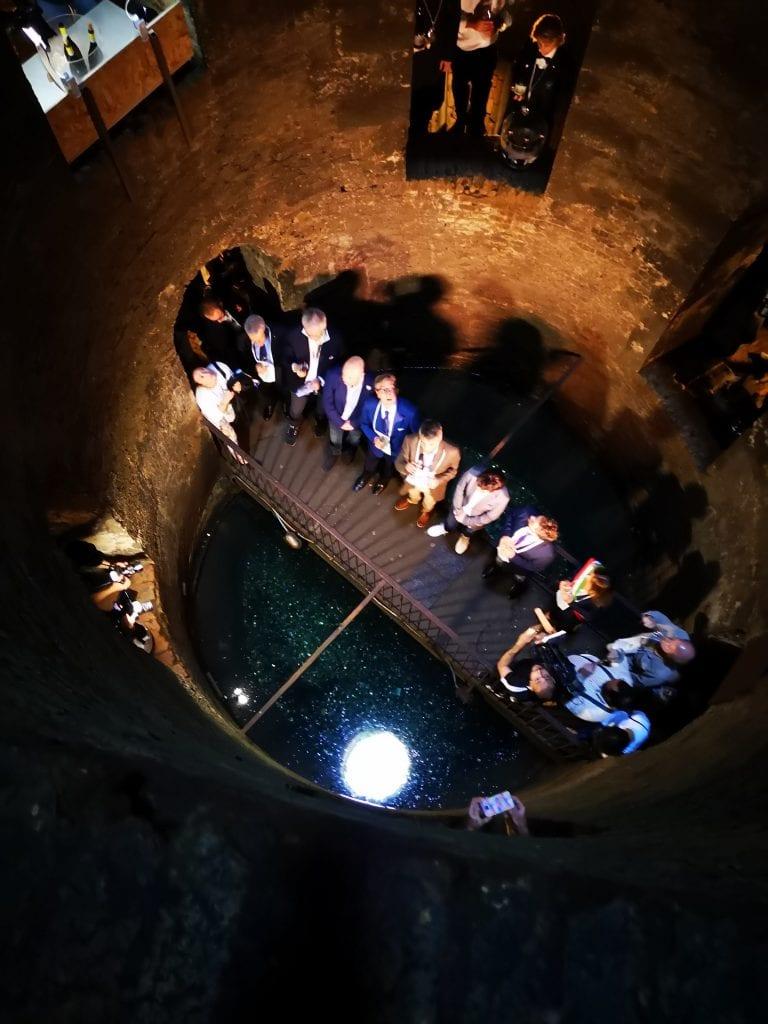 interno del Pozzo di San Patrizio per la presentazione dell'Orvieto spumante