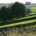 Paesaggi agresti di Hawes in nord Yorkshire