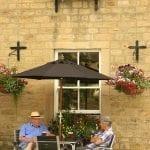 Tavolini di un pub a Mashmam in nord Yorkshire