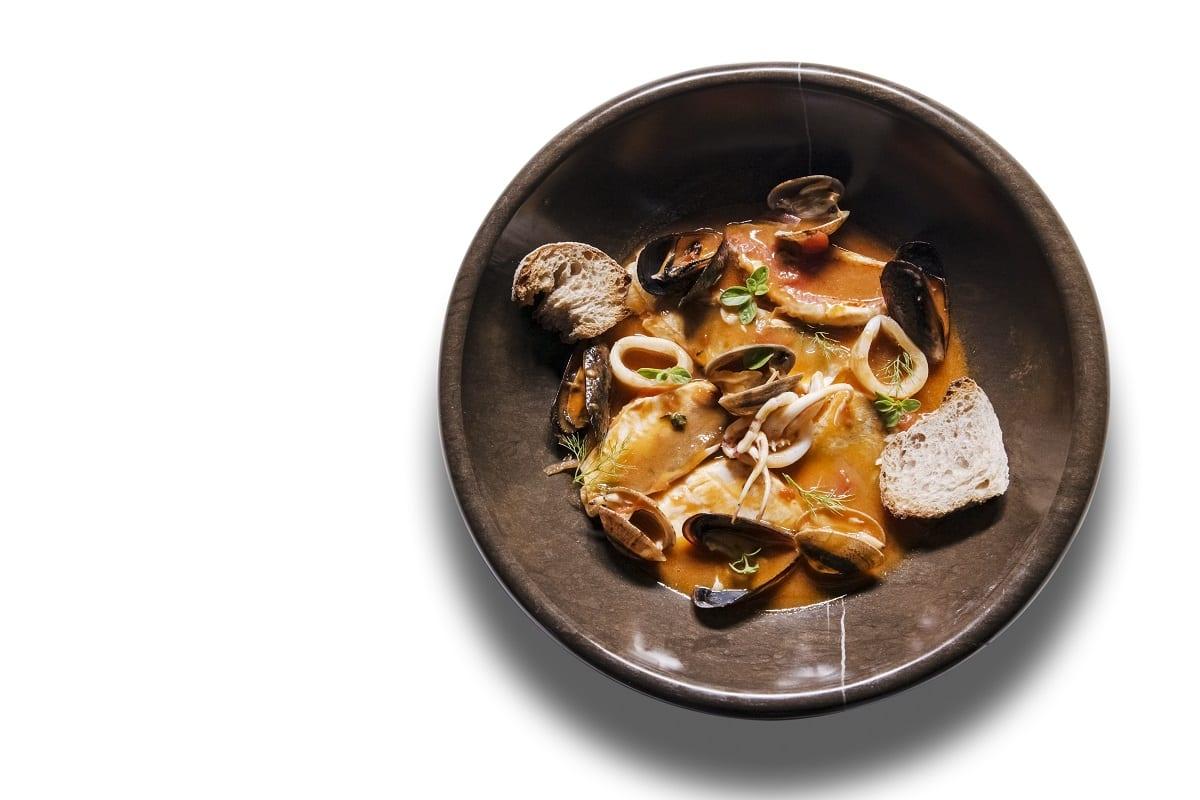 Zuppa di pesce al Bistrot del Mare dell'Hotel Excelsior Lido di Venezia