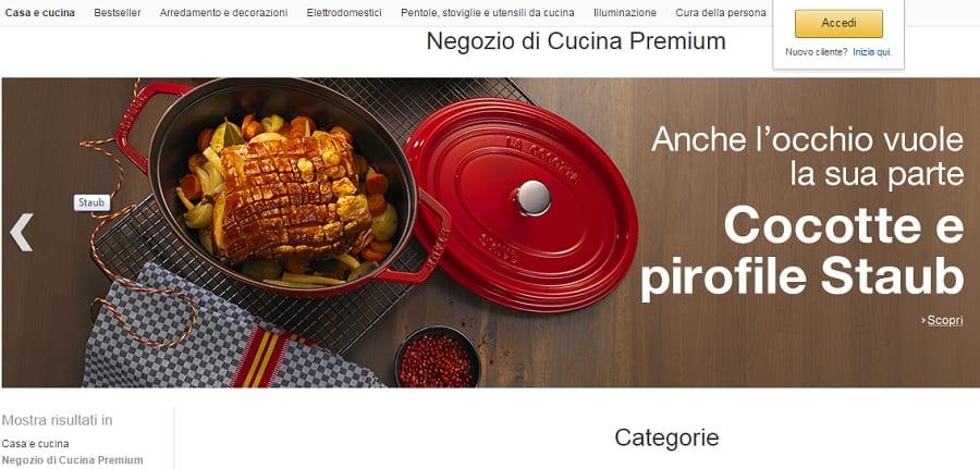 Amazon e gli strumenti dello chef. Il negozio e-commerce di Cucina Premium