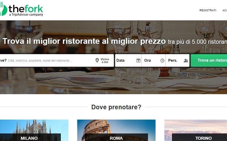 TheFork sbarca in Italia e compra RestOpolis e MyTable. TripAdvisor sempre più concentrata sul business delle prenotazioni di ristoranti