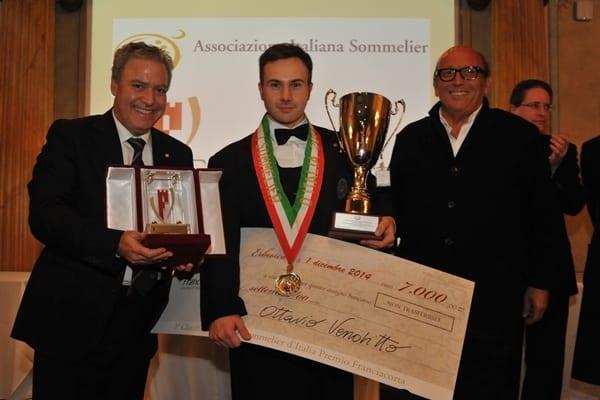 Ottavio Venditto si aggiudica il Premio Ais-Franciacorta: è il Miglior Sommelier d'Italia 2014