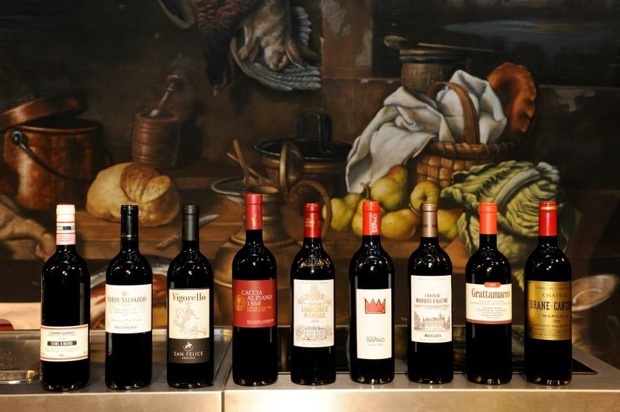 Vive l'Italie, Forza Francia. Bordeaux e grandi rossi italiani a confronto