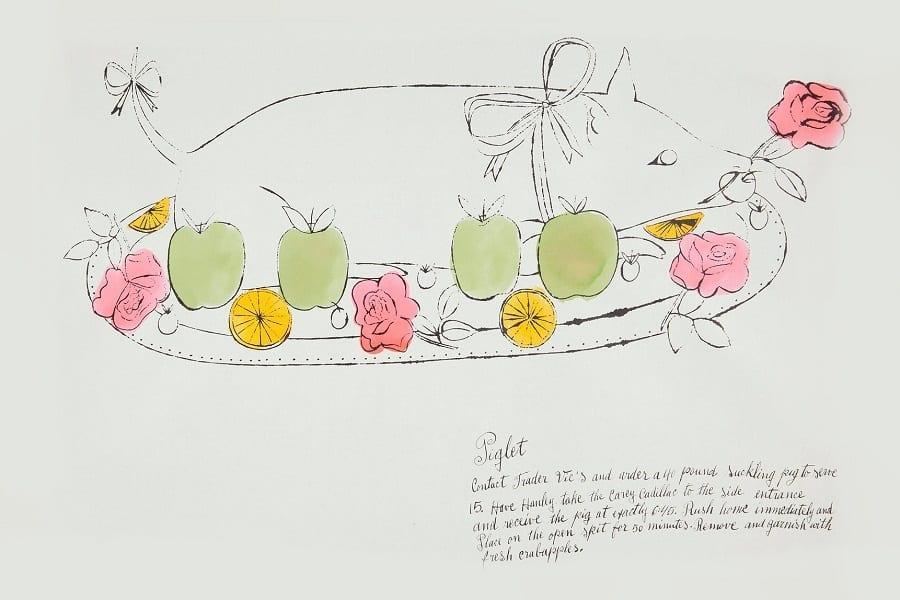 Wild Raspberries. All'asta le ricette illustrate di Andy Warhol: la parodia della cucina francese