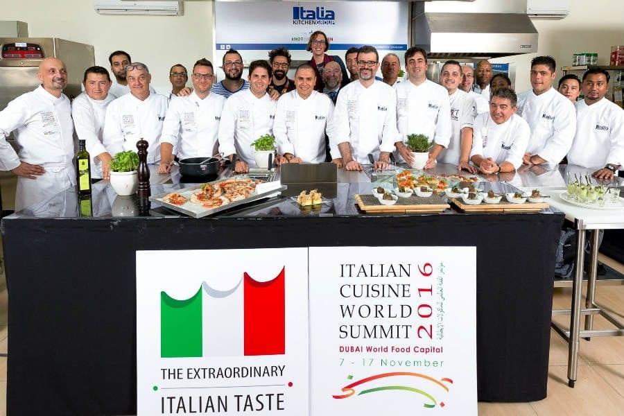 I migliori chef italiani a Dubai per Italian Cuisine World Summit
