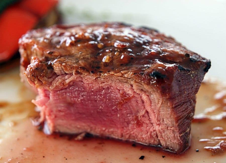 Una bistecca di carne grass fed