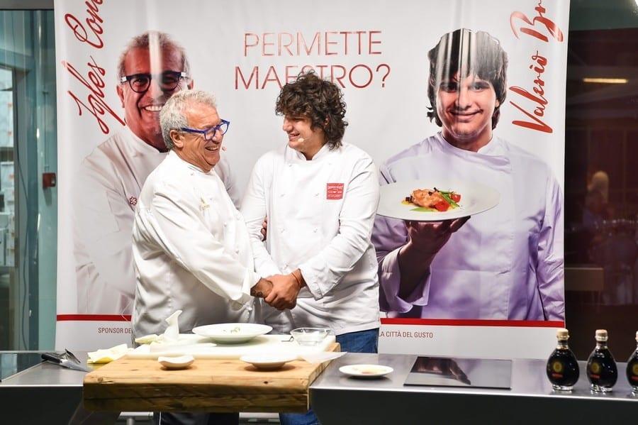 Igles Corelli e Valerio Braschi alla Città del gusto Roma. Le foto della cena evento