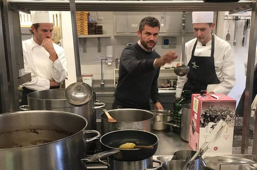 Enrico Bartolini in cucina