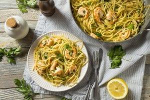 Spaghetti rapidi aglio,olio e gamberi