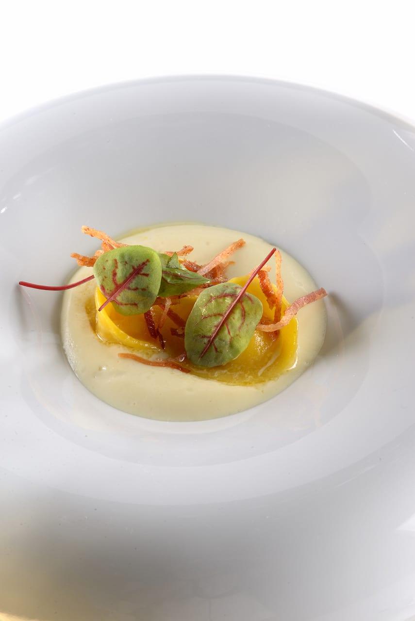 Tortelli alle prime uve, Bettelmatt, e pancetta ossolana dello chef Giorgio Bartolucci