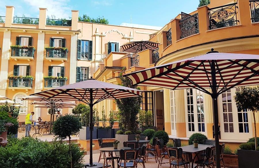 La terrazza dell'Hotel de la Ville