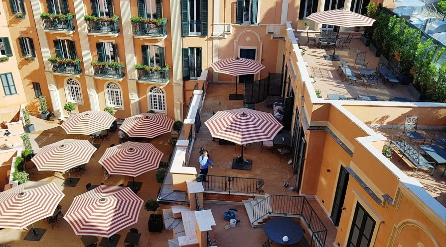 terrazze all'Hotel de la Ville