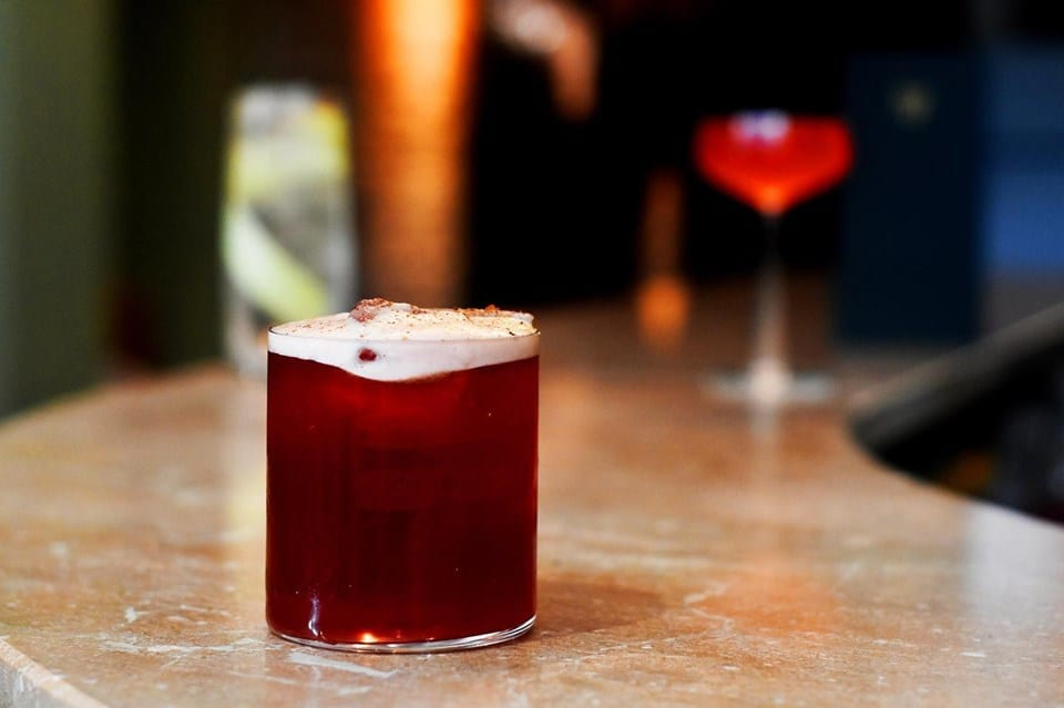 Un cocktail analcolico del Virgin Mary Bar