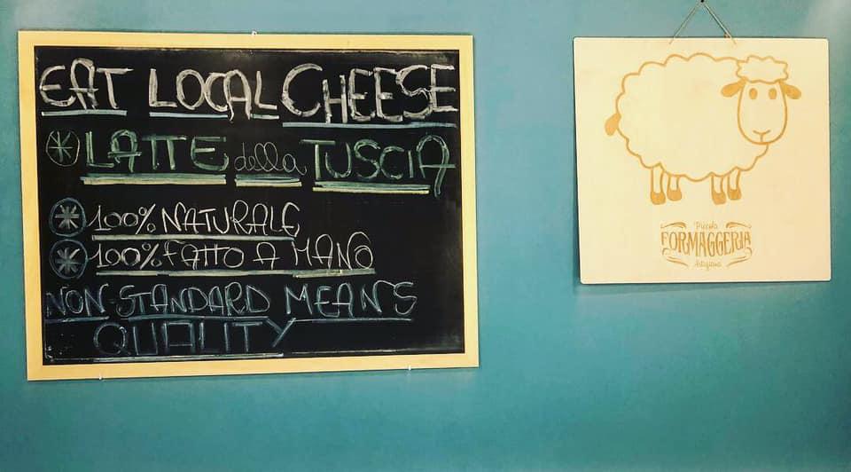 Eat Local Cheese, la lavagna di Piccola Formaggeria Artigiana