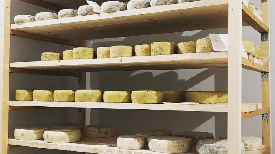 I formaggi in stagionatura su legno